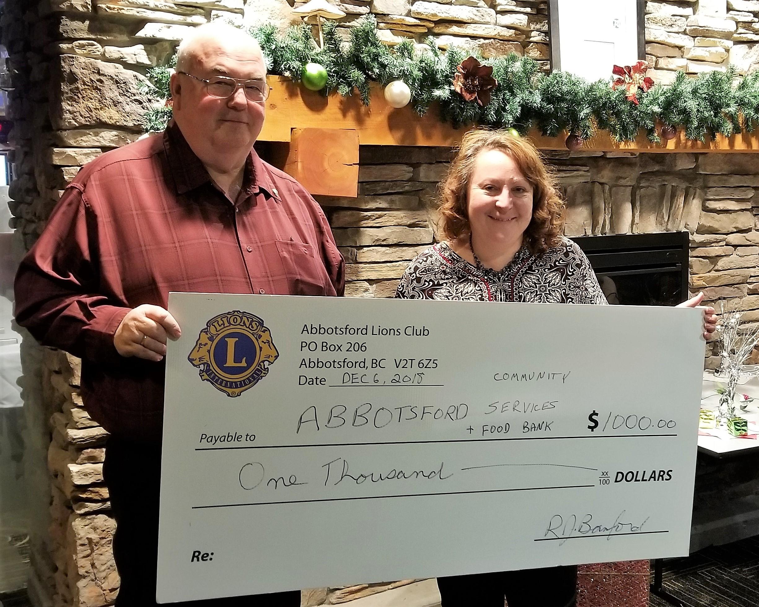 Lions Club Generous Donation