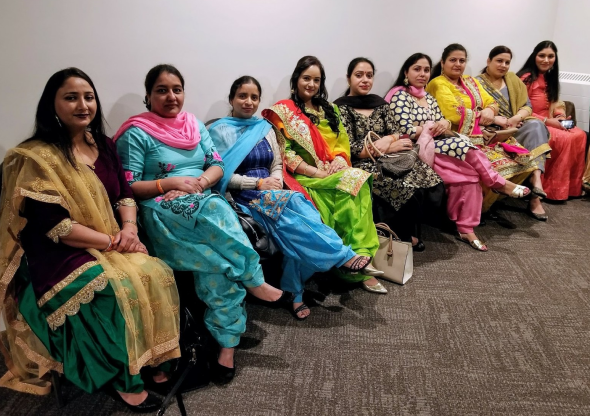south asian women at ladies night event